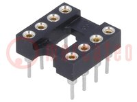 Socket: DIP; PIN:8; 7.62mm; gold-plated; polyester; UL94V-0; 1A