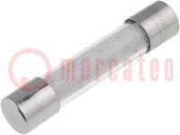 Fusible: de cartucho; retardados; de cristal; 8A; 250VCA; 6,3x32mm