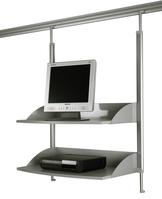 TV-/Videoregal für Legaline DYNAMIC, 2 verstellbare Böden, Eloxiertes Aluminium