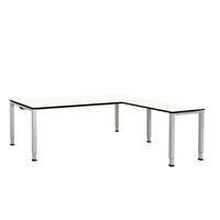 Schreibtisch, verkettet, Fußform Quadrat-/Rechteckrohr