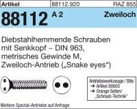 Diebstahlhemmende Schrauben M6x12