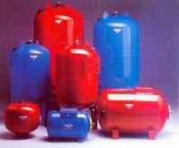 Membrandruckbehälter, Stahl, 60 l, PN10, horizontal
