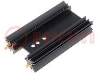 Hűtő: extrudált; SOT32,TO220,TO3P; fekete; L:63,5mm; 8K/W