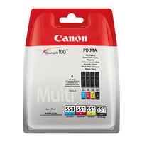 Canon Tintenpatrone 6509B009 CLI551 sw/c/m/y 4 St./Pack.