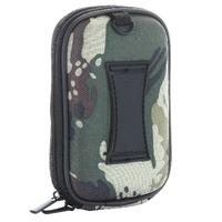 Kamera/ Kompaktkamera Tasche, EVA Material/ Nylon Oberfläche - Innen: 105x63x30 mm - Camouflage Grün