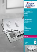 Folie f. swLaserdr. & swKop. Farb-Laserdr. DIN A4 100 BG selbstkl. 0,14mm