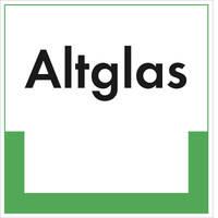 Abfallkennzeichnung - Textschild, Altglas, Größe (BxH): 40,0 x 40,0 cm