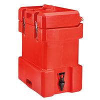 Art-Nr: QC250007 , Thermoisolierter Getränkebehälter QC 25, 25 Liter, Rot, ETERNASOLID®
