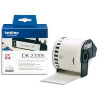 BROTHER Ruban papier adhésif continu Noir/Blanc largeur 62mm / longueur 30m DK22205
