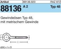 Gewindeösen Typ 48 M6x20D10