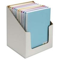 CANSON Carnets de notes 100 pages 120g 21x29,7cm. Couverture PP assorties (en boîte présentoir)