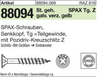 ABC SPAX S Screw 4,5 mm x 45/29 mm