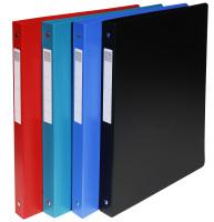 blickdicht Rücken 40mm Ringbuch aus festem PP 1000µ mit 4 Ringen 30mm DIN A4