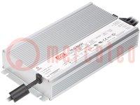 Alimentatore: a impulsi; LED; 600W; 24VDC; 25A; 90÷305VAC; IP67