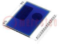 Display: LCD; grafisch; STN Negative; 102x64; blauw; 39x38,1mm