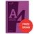 Silvine Notebook Wirebound Polypropylene 60gsm 160pp A4 Assorted Ref POLYA4AC[Pack 5]