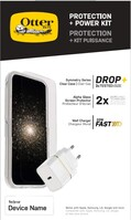 OtterBox Protection + Power Kit Apple iPhone 12/iPhone 12 Pro (Symmetry Clear / Alpha Glass / EU USB-C Wall Charger 20W - Wit) - beschermhoesje + Gehard glazen screenpRedector +...