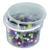 Baril de 1000 cubes plastique 1cm 10 couleurs emboîtables, jeu de construction