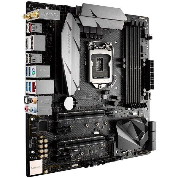 ASUS STRIX Z270 GAMING, LGA1151, Intel Z270, 4xDDR4, Max:2133MHz, Max:64GB, 2xPCIE16 3.0, 2xPCIE1, 6xSATA3, 2xUSB, 4xUSB3, 1xUSB3.1, 1xUSB3.1C, HDMI, 7.1, Gigabit, PS2:1, Displa... - STRIX-Z270G-GAMING