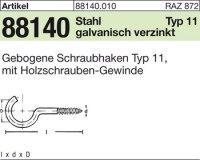 Gebogene Schraubhaken 20x2,3x6