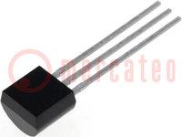 Transistor: PNP; bipolar; 45V; 100mA; 500mW; TO92