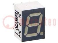 Display: LED; 7-segmentig; 7mm; rot; 0,7-2,2mcd; Anode; Anz.Z:1