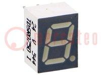 """Kijelző: LED; 7 szegmenses; 7mm; piros; 0,7-2,2mcd; anód; 0,28"""""""