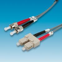 ROLINE LWL-Kabel 50/125µm ST/SC, OM1, grau, 3,0 m