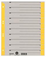 Trennblatt, A4, Karton, farbig bedruckt, gelb