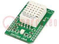 Click board; vochtigheids-/temperatuursensor; 1-wire; AM2302