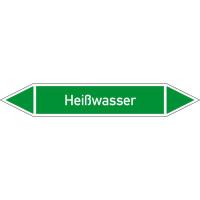 Rohrleitungskennzeichnung/Pfeilschild Gruppe1 Wasser(grün),selbstkl. 22,3x3,7cm Version: P1116 DIN 2403 - Heißwasser P1116