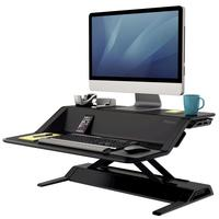Fellowes Lotus Sit-Stand Workstation Smooth Lift Technology 22 Height Adjustments Black Ref 7901
