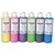 ART PLUS Lot de 6 flacons 250ml gouache. Assortis nacré : Jaune, Rose, Violet, Vert, Noir, Bleu