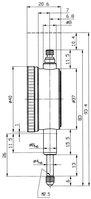 Messuhr 5 mm, Außenring Ø 40 mm, Werksnorm