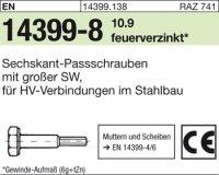 Sechskant-Paßschrauben M16x80