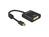 Adapter mini Displayport 1.2 Stecker an DVI Buchse, 4K Passiv, schwarz, 0,2m, Delock® [62605]