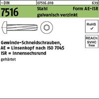 DIN 7516 Stahl AE M 6 x 25 -T30 galv. verzinkt gal Zn S