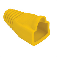 Knickschutztülle gelb, für RJ-45, 10 Stck