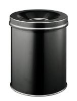 Durable 3305-01 15 L Round Steel Black