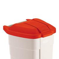 Deckel für Wertstoffsammler 100 L Kunststoff rot