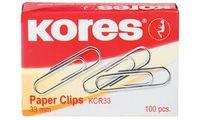 Kores Büroklammern, 25 mm, verzinkt (5643010)