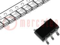 IC: digitaal; OR; Kanalen:1; Ingangen:2; CMOS; SMD; SC74A; Serie: HC