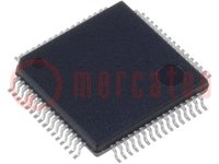 MSP430 microcontroller; SRAM:4096B; Flash:48kB; 16MHz; LQFP64