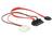 Kabel Micro SATA Stecker gewinkelt an SATA 7 Pin + 2 Pin Power 5 V 30 cm, Delock® [83911]