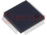 Microcontroller MSP430; SRAM:4096B; Flash:48kB; 16MHz; LQFP64