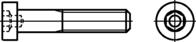 DIN 6912 Zylinderschrauben mit Innensechskant und Schlüsselfüh... zn M8x40mm HP