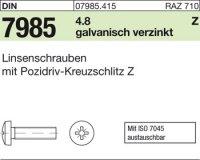 Linsenschrauben M6x20-Z