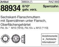 6kt.-Flanschmuttern M16