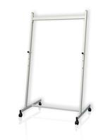 Stativ für Tafel, mit 4 Rollen, Lenkrollen feststellbar, ab 90 cm, 67 x 84 cm