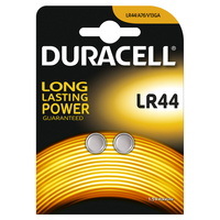 DURACELL Batterie Electronics, Alkalineknopfzelle (LR44) 1,5V 2St